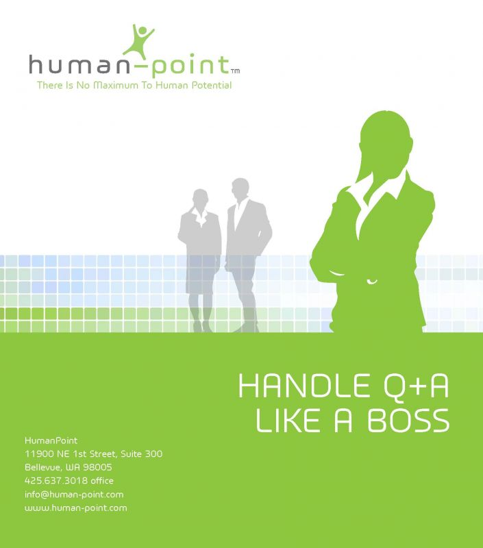 Handling Q A Like a Boss Cover